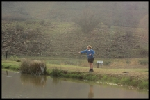 Joubert trying his hand at fly fishing