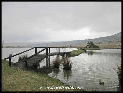 The Trophy Dam at Doornkop under heavy skies